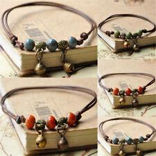 Fashion Jewelry Dancing Bear Charm Bells Black Lace Hemp Anklet Macrame Handmade Ankle Bracelet Fast Color