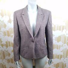 Vintage Pendleton Herringbone Women's M/ L Tweed Virgin Wool Blazer Career USA