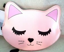 NWT Luv Betsey by Betsey Johnson LBKIT Cat Face Blush Pink Coin Purse Wristlet