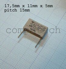 0,1uF 100nF 305VAc MKP/SH x 2, 40/100/56 Condensatore Polypropylene Vishay F1778