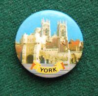 York Pin Badge - Vintage Souvenir - England, UK