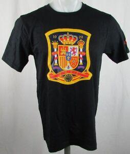 Spain Soccer Shirt FIFA Adidas Men's Climate Go-To Tee Black