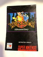 We're Back Super Nintendo Instruction Manual Booklet NO SNES Game FREE SHIPPING