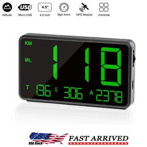 Universal Digital Car GPS MPH KM/h HUD Display Speedometer For Bike Motorcycle