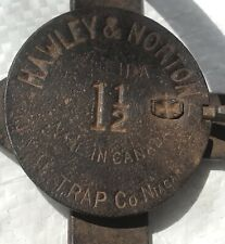 2 Vintage Canadian Oneida Hawley & Norton #1 1/2 Long Spring Trap Newhouse