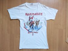 Rare Vintage 1984 Iron Maiden Canadian Slavery Tour Promo T-Shirt Size M