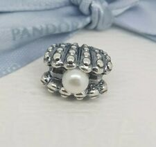 Authentic Pandora Silver Clam Sea Shell Oyster with Pearl Retired 791134P NEW