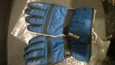 ski gloves blue