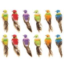 12pcs Colorful Mini Simulation Fake Artificial Foam Birds Home Garden Decoration