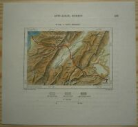 "1884 Perron map ""FRENCH ROUTE"": ROAD BEIRUT - DAMASCUS (#123)"