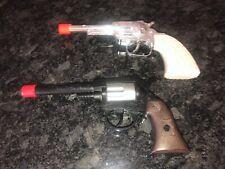 TOY GUN ORANGE TIP EDISON GIOCATTOLI ITALY PLASTIC REVOLVER & BRAND? TOY PISTOL