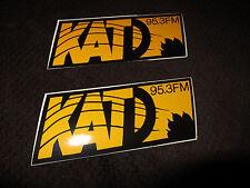 Vintage Lot of 2 Stickers 80's KATD 95.3 Rock Radio Station Los Gatos