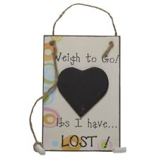 Wooden Weigh To Go Weight Loss Journey Chalk board Hanging Sign by Heaven Sends