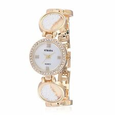 DESIGNER BRACELET WHITE SEED LOCKET STYLE LADIES WATCH AUSTRIAN CRYSTAL JAPAN
