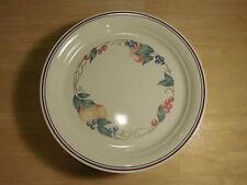 Corelle ABUNDANCE Set of 12 Luncheon Plates 8 in Fruit Gold Blue Rimmed A