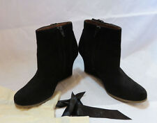 Lanvin Suede Booties..wedges, 36 Black