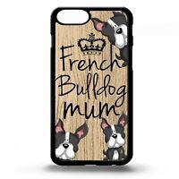 French bulldog mum frenchie quote phrase dog cartoon puppy art phone case cover