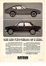 1971 DATSUN 240Z  &  510 SEDAN  ~  CLASSIC ORIGINAL PRINT AD