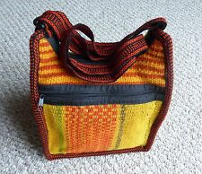 Sling Back Pack Convertible Shoulder Bag and Backpack - Handwoven Manta in Peru