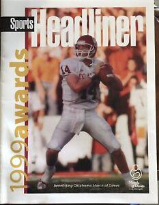 1999 Sports Headliner Award Program..JOSH HEUPEL Cover..OKLAHOMA SOONERS..Mint