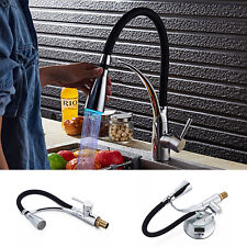 LED Kitchen Taps Pull Out Spray Basin Mixer Sink Tap Chrome Black Modern Faucet