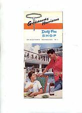 Vintage Travel Brochure GODDARDS HARRISONS DUTY FREE Barbados Liquor Prices