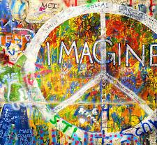 graffiti street art Print A1 size painting john lennon imagine murel licensed