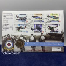 [2000 UK FDC]1x Guernsey 50p Coin First Day Cover 1940 Battle of Britain 2000