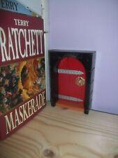 Miniature Red Library Door for Bookcases / Bookshelves Fairys Elves Trolls