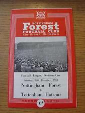 26/12/1964 Nottingham Forest v Tottenham Hotspur  (Creased, Folded)