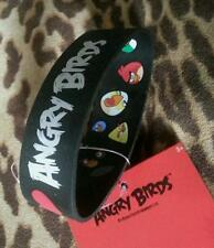 I heart Angry Birds BLACK White RED Reversible all BIRDS Rubber Wrist Bracelet!