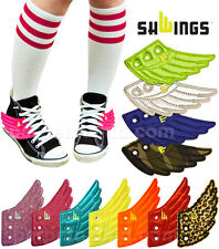 SHWINGS REFLECTIVE GREY LACE UP WINGS FOR YOUR SHOES