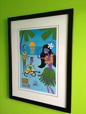 Strings of Paradise - very rare Josh Agle aka Shag limited edition print. framed
