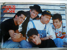 RARE NEW KIDS ON THE BLOCK 1990 VINTAGE ORIGINAL MUSIC POSTER