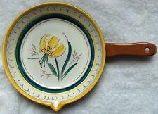 Stangl Garden Flower stick handle casserole/skillet