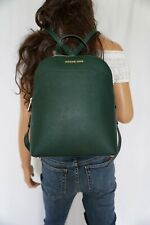 MICHAEL KORS EMMY LARGE BACKPACK SAFFIANO LEATHER RACING GREEN COLOR