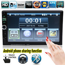 """7"""" 2 DIN Car Bluetooth Stereo Radio MP3 MP5 Player Android Mirror Link FM USB TF"""