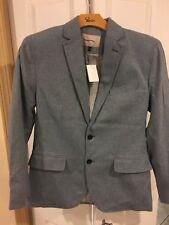 Banana Republic Men's Blazer Jacket Sport Suit Coat Light Blue Cashmere Wool 38R