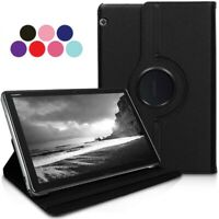 """Huawei 10.1"""" 360 Rotating Case Leather Folio Stand For MediaPad T5 10 2018"""
