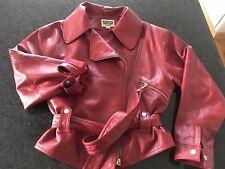 ❤️ Damen Lederjacke rot Größe 38, Vintage, Bikerjacke, Vintage 80iger Jahre kurz