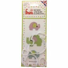 FMM Mummy And Baby Elephants Icing Cutter Clean Cut Fondant Cutting Tool