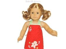 Christmas Gingerbread Apron 18 in Doll Clothes Fits  American Girl