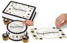 Graduation Cake Peel Sugar Sheet -Wilton - Edible decorating paper - 1pc