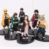 Anime Demon Slayer Kamado Tanjirou Nezuko Zenitsu PVC Action Figure Toy Kid Gift