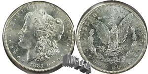 1881 S Morgan Silver Dollar   62A