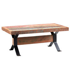 Rustic Design Rectangular Coffee Table Reclaimed Timber Collection Cs02