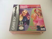 Barbie Superpack: Secret Agent Barbie/Barbie: Groovy Games GBA NEW SUPER RARE