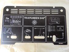 Telefunken 340WL  backcover Rückwand Replica