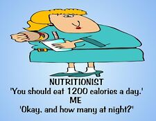 METAL FRIDGE MAGNET 1200 Calories Day How Many Night Family Friend Humor Funny