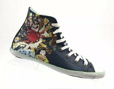 Ed Hardy Womens Leather High Top Blue Sneaker Coy Tennis Shoes Size 6 a1602